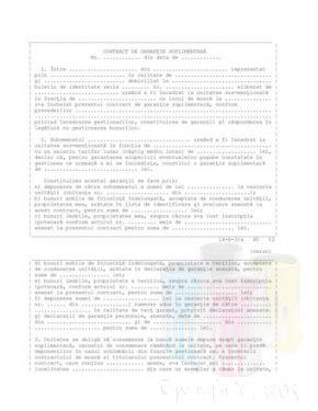 Contract de garantie suplimentara
