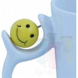 Cana alba Smiley personalizata