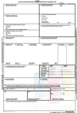 CMR - ScrisoareScrisori de transport auto international CMR autocopiative - 5 ex 30 seturi - franceza, engleza