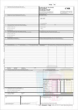 CMR - ScrisoareScrisori de transport auto international CMR autocopiative - 3 ex. 50 seturi - romana