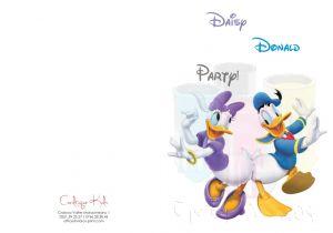 Invitatii de petrecere copii  Disney Daisy & Donald Duck