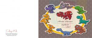 Invitatii de petrecere copii Dinozauri