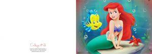 Invitatii de petrecere copii adulti - Disney Printesa Ariel Mica Sirena