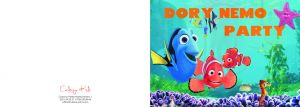 Invitatii de petrecere copii adulti - Finding Dory