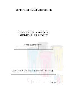 Carnet de control medical periodic
