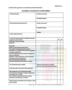 Acordul pacientului informat Anexa 1