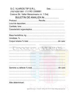 Buletin de analiza - silozuri sau producatori agricoli