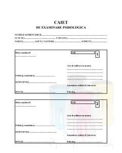 Caiet de examinare psihologica