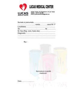 Retete medicale personalizate 2 culori